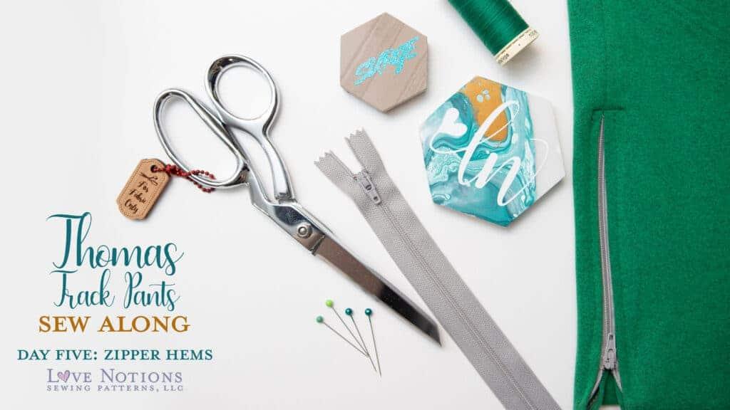 sewing a zipper hem