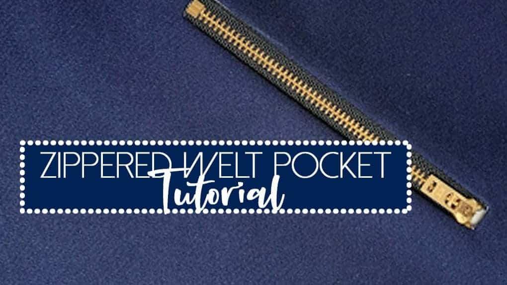 How to make a Welt Zipper Pocket